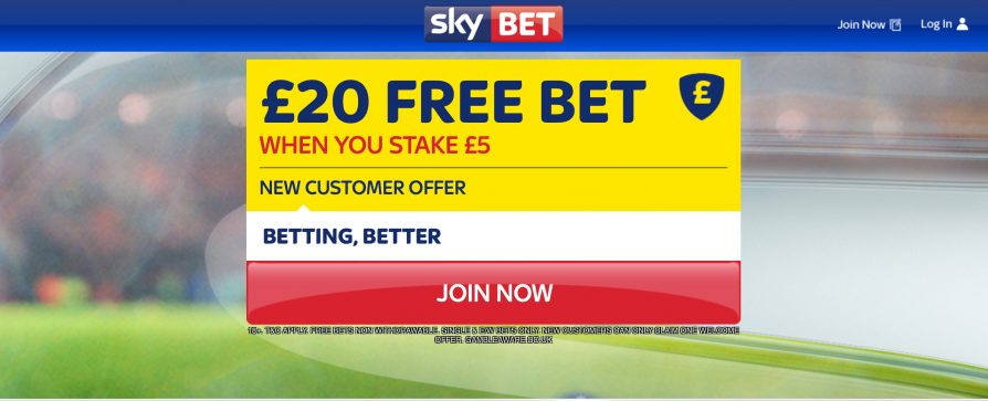 Uk betting sites free bets with skybet