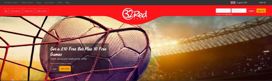 32Red Free Bet & Review