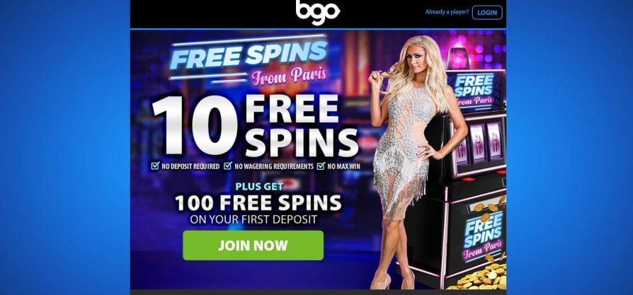 BGO casino bonus graphic