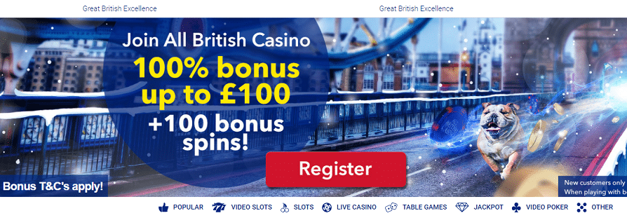 all british casino free spins graphic