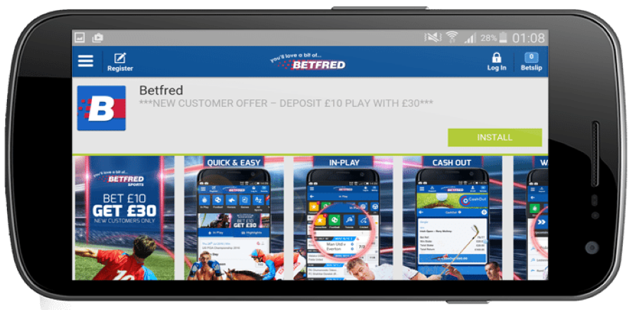 Betfred promo code mobile app