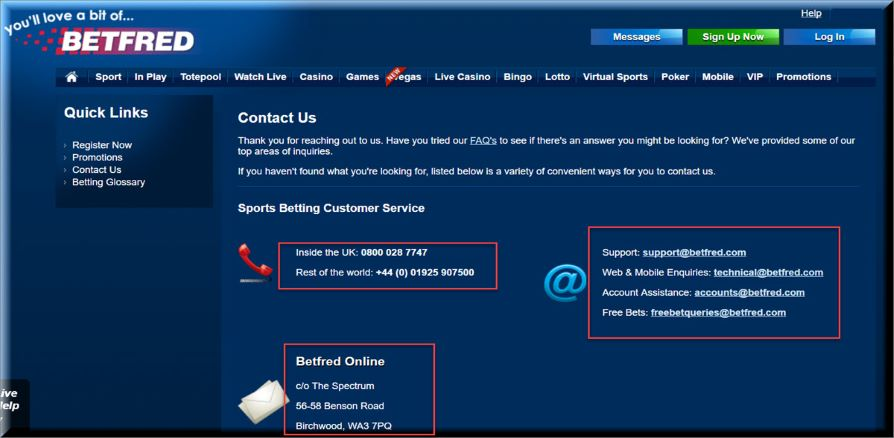 Betfred promo code customer service