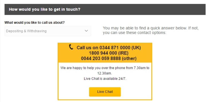Betfair promo code customer support