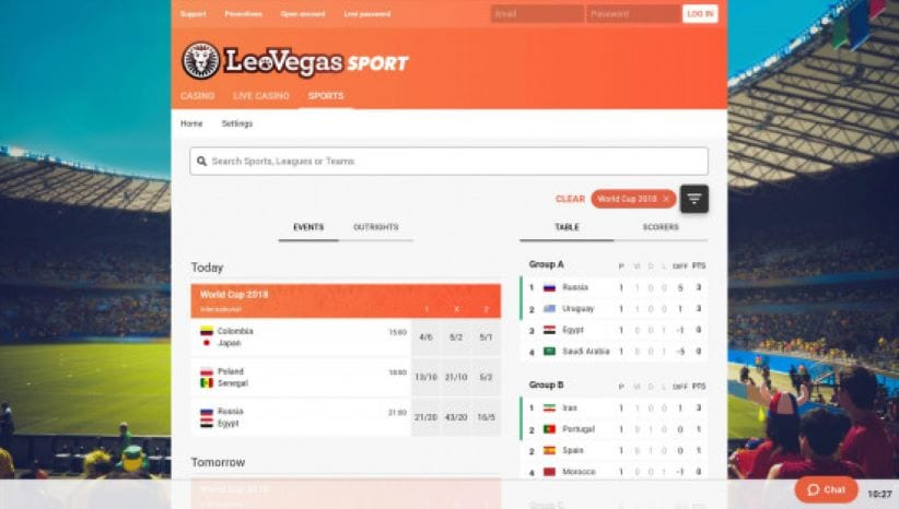 Leovegas Mobile Sports Betting App Review