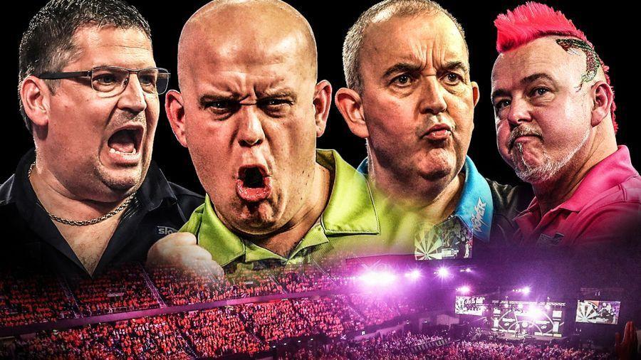 image of premier league darts players
