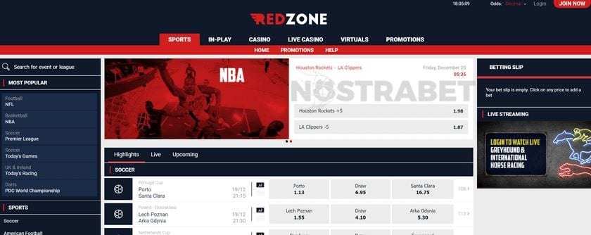 redzonesports mobile sports betting app review