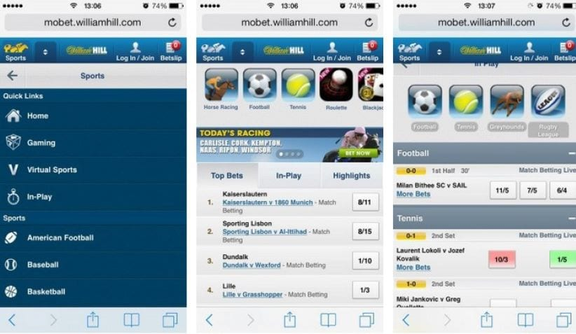 William Hill Mobile Betting App Review