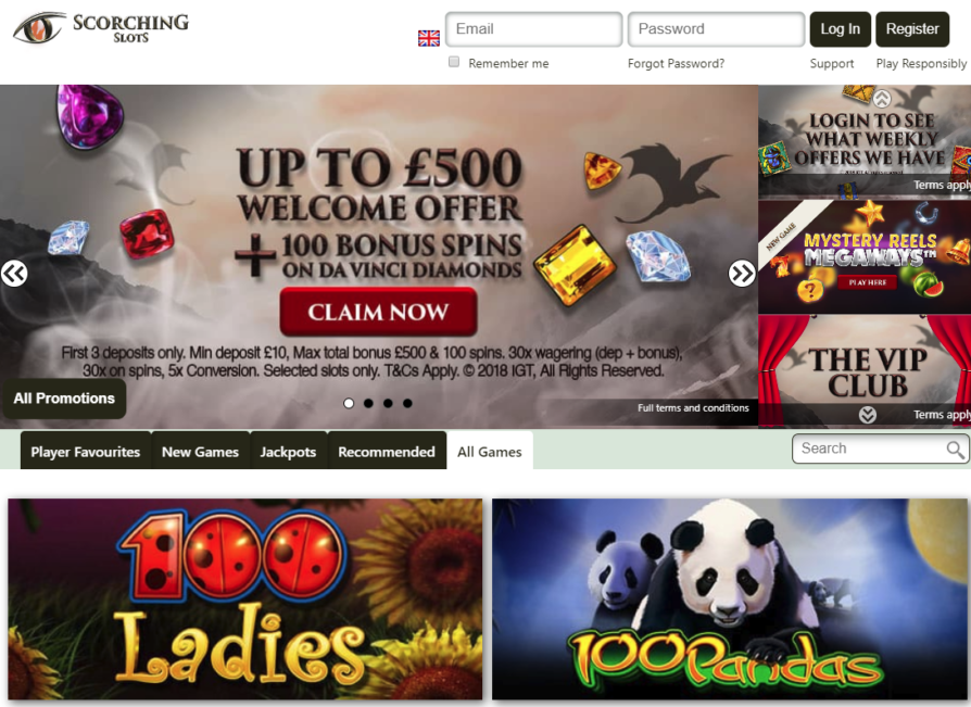 Scorching Slots Casino Bonus