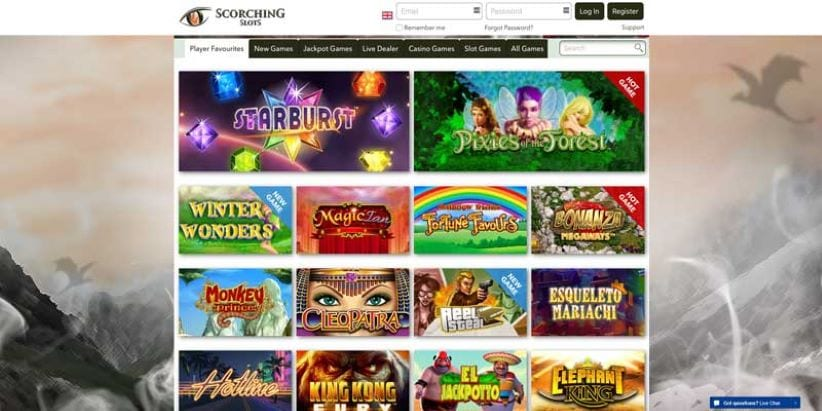 scorching slots casino games