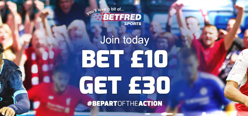 Betfred Bet 10 Get 30 Free Bet