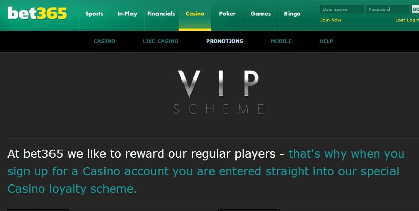 Bet365 VIP Casino Bonus